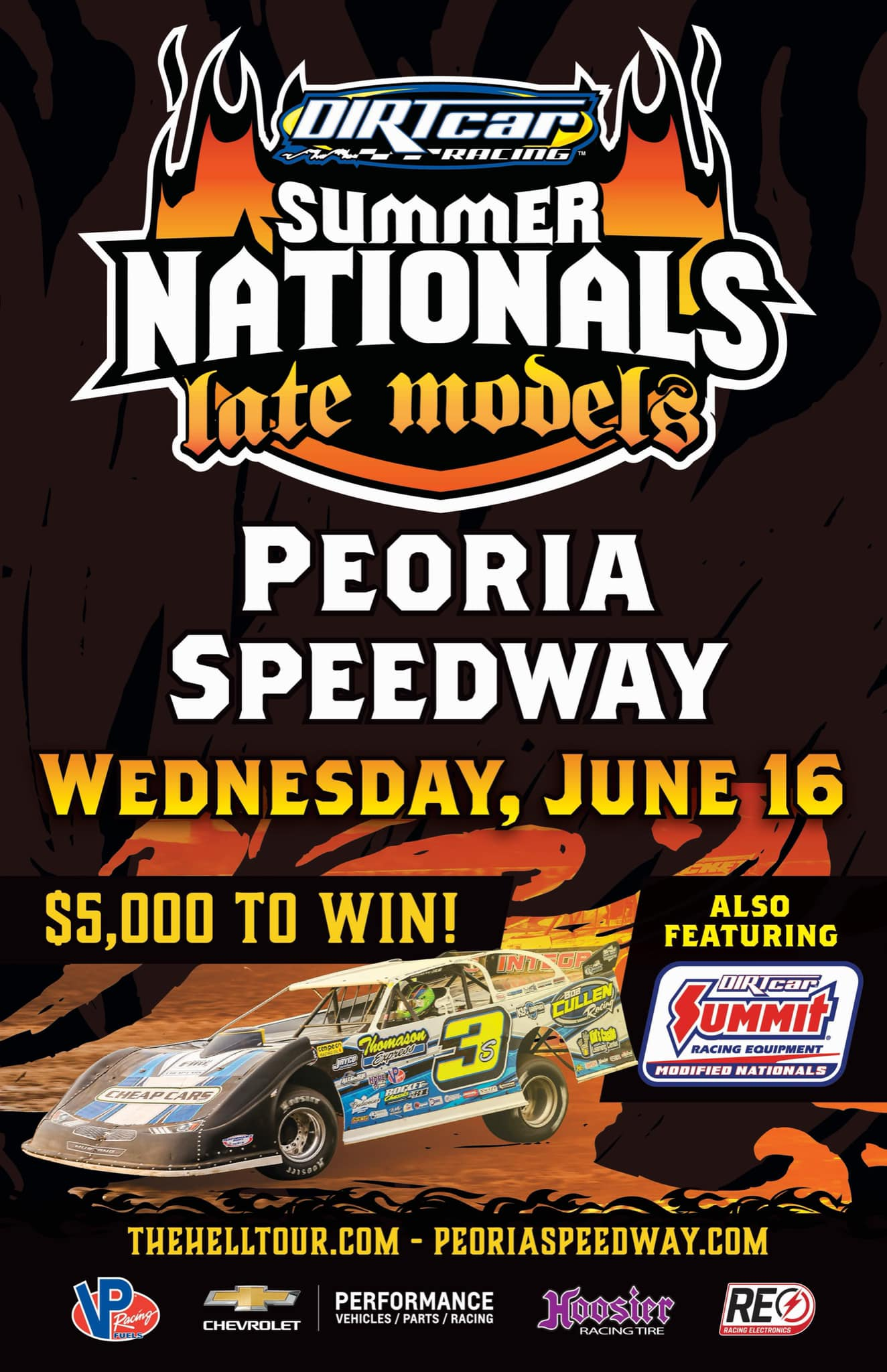 Dirt Car Racing Summer Nationals at Peoria Speedway! Wednesday, JUNE 16, 2021 post thumbnail image